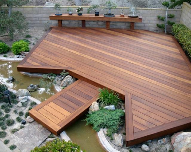 Terrasse bois et bassin
